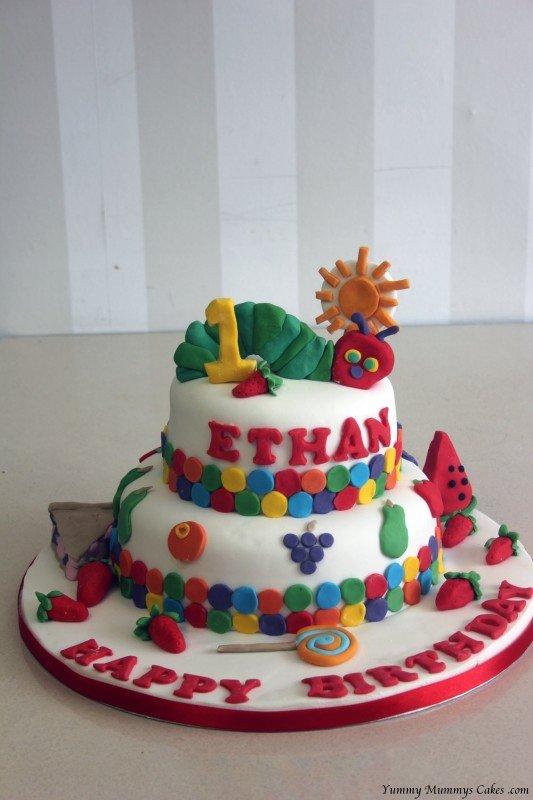 Caterpillar Birthday Cake