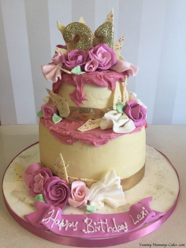 Peachy Ladies Birthday Cake Yummy Mummys Cakes Cakes For All Occasions Funny Birthday Cards Online Sheoxdamsfinfo