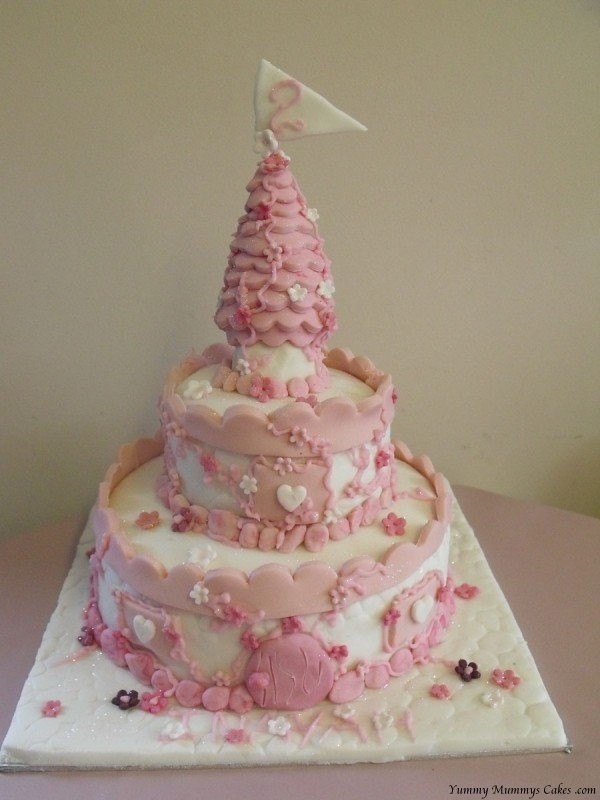 Magnificent Princess Castle Birthday Cake Yummy Mummys Cakes Cakes For All Funny Birthday Cards Online Elaedamsfinfo